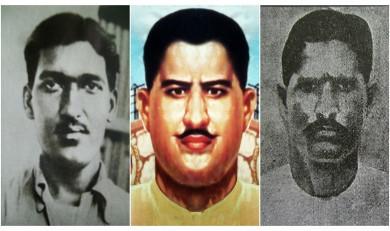 Martyrs Ashfaqulla Khan, Ram Prasad Bismil and Roshan Singh