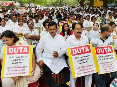 Delhi university strike