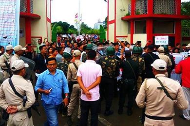 Manipur university agitation